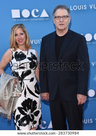 LOS ANGELES - MAY 30:  Albert Brooks & Kimberly Shlain arrives to the MOCA Annual Gala 2015  on May 30, 2015 in Hollywood, CA                 - stock photo