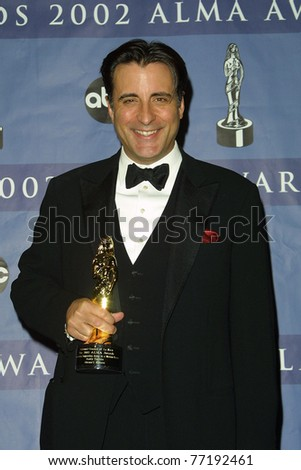 LOS ANGELES - MAY 18:  Andy Garcia at the 2002 ALMA Awards Press Room, Los Angeles, California on May 18, 2002.