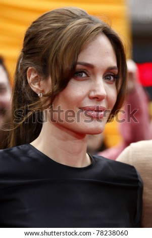 "LOS ANGELES - MAY 22:  Angelina Jolie arriving at the ""Kung Fu Panda 2"" Los Angeles Premiere at Grauman's Chinese Theatre on May 22, 2011 in Los Angeles, CA - stock photo"