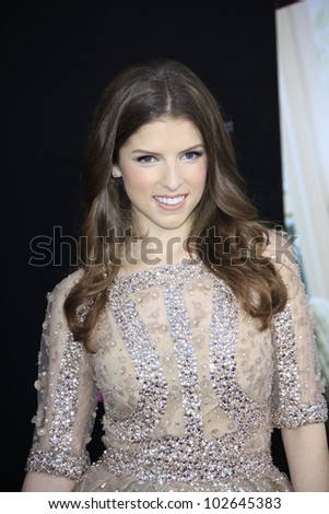LOS ANGELES - MAY 14: Anna Kendrick at the premiere of 'What To Expect When You're Expecting' held at Grauman's Chinese Theater on May 14, 2012  in Los Angeles, California