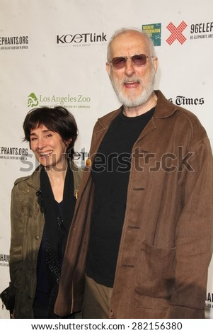 "LOS ANGELES - MAY 26:  Anna Stuart, James Cromwell at the ""Illicit Ivory"" World Premiere at the Witherbee Auditorium at the Los Angeles Zoo  on May 26, 2015 in Los Angeles, CA - stock photo"
