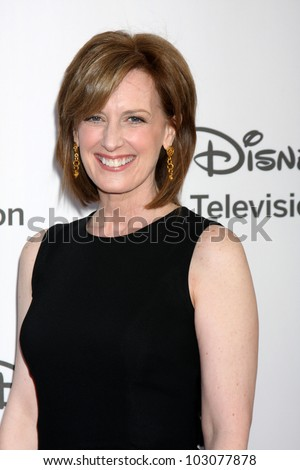 LOS ANGELES - MAY 20:  Anne Sweeney arrives at the ABC / Disney International Upfronts at Walt Disney Studios Lot on May 20, 2012 in Burbank, CA
