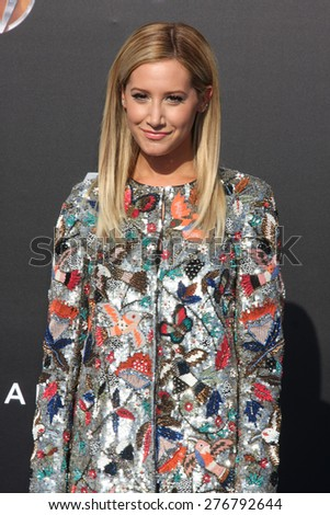 "LOS ANGELES - MAY 9:  Ashley Tisdale at the ""Tomorrowland"" Premiere at the AMC Downtown Disney on May 9, 2015 in Lake Buena Vista, CA - stock photo"