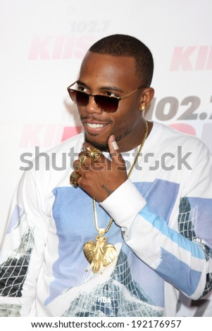 LOS ANGELES - MAY 10:  B.o.B at the 2014 Wango Tango at Stub Hub Center on May 10, 2014 in Carson, CA