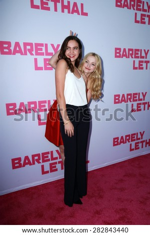 """LOS ANGELES - MAY 27:  Bailee Madison, Dove Cameron at the """"Barely Lethal"""" Los Angeles Screening at the ArcLight Hollywood Theaters on May 27, 2015 in Los Angeles, CA - stock photo"""