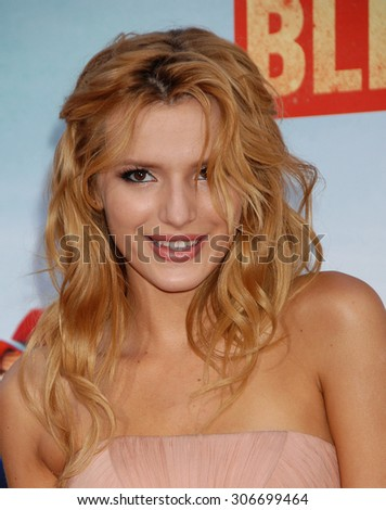 LOS ANGELES - MAY 21:  Bella Thorne  arrives at the Blended LOS ANGELES Premiere  on May 21, 2014 in Hollywood, CA                 - stock photo
