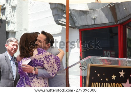LOS ANGELES - MAY 19:  Ben Falcone, Melissa McCarthy at the Melissa McCarthy Hollywood Walk of Fame Ceremony at the TCL Chinese Theater on May 19, 2015 in Los Angeles, CA - stock photo