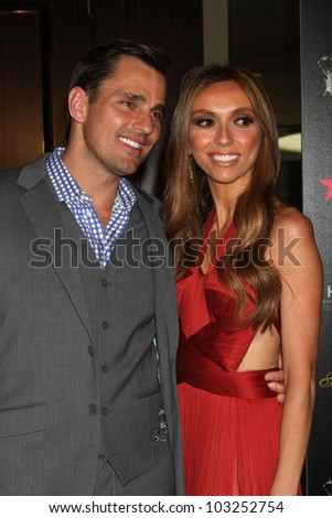 LOS ANGELES - MAY 22:  Bill Rancic, Giuliana Rancic arrives at the 37th Annual Gracie Awards Gala at Beverly Hilton Hotel on May 22, 2012 in Beverly Hllls, CA - stock photo