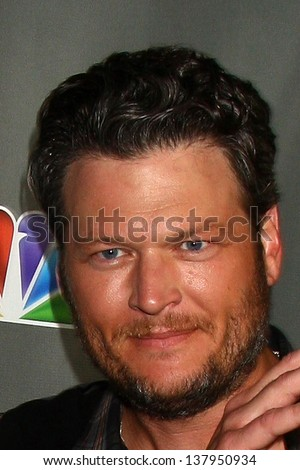 "LOS ANGELES - MAY 8:  Blake Shelton arrives at ""The Voice"" Season 4 Top 12 Event at the House of Blues on May 8, 2013 in West Hollywood, CA - stock photo"