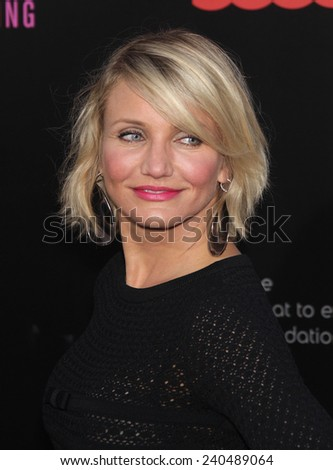 "LOS ANGELES - MAY 14:  CAMERON DIAZ arrives to the """"What To Expect When You're Expecting"" Los Angeles Premiere  on May 14, 2012 in Hollywood, CA                 - stock photo"