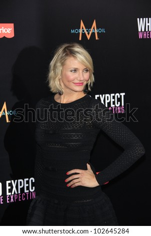 LOS ANGELES - MAY 14: Cameron Diaz at the premiere of 'What To Expect When You're Expecting' held at Grauman's Chinese Theater on May 14, 2012  in Los Angeles, California - stock photo