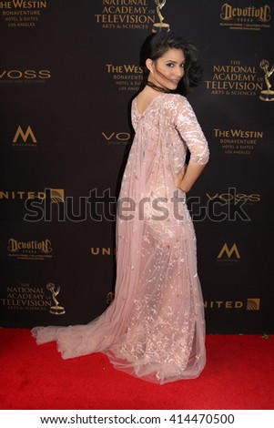 LOS ANGELES - MAY 1:  Camila Banus at the 43rd Daytime Emmy Awards at the Westin Bonaventure Hotel  on May 1, 2016 in Los Angeles, CA - stock photo