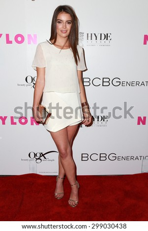 LOS ANGELES - MAY 7:  Catherine Hughes at the NYLON Magazine Young Hollywood Issue Party  at the HYDE Sunset on May 7, 2015 in West Hollywood, CA - stock photo