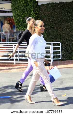 LOS ANGELES - MAY 9: Christina Milian is out and about with a girlfriend for some shopping on May 9, 2012 in Los Angeles, California
