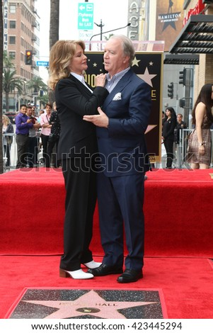 LOS ANGELES - MAY 19:  Deidre Hall, Ken Corday at the Deidre Hall Hollywood Walk of Fame Ceremony at Hollywood Blvd. on May 19, 2016 in Los Angeles, CA - stock photo