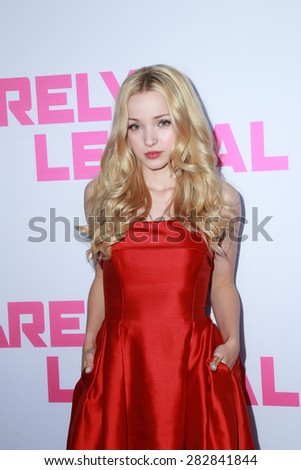"""LOS ANGELES - MAY 27:  Dove Cameron at the """"Barely Lethal"""" Los Angeles Screening at the ArcLight Hollywood Theaters on May 27, 2015 in Los Angeles, CA - stock photo"""