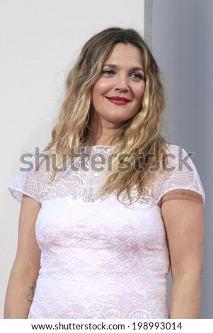 """LOS ANGELES - MAY 21:  Drew Barrymore at the """"Blended"""" Premiere at TCL Chinese Theater on May 21, 2014 in Los Angeles, CA - stock photo"""