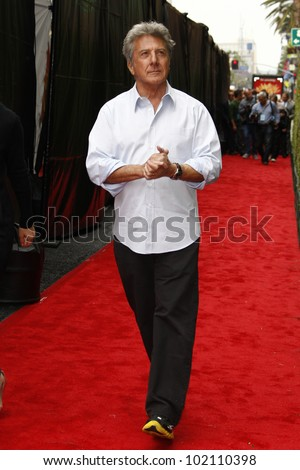 LOS ANGELES - MAY 22:  Dustin Hoffman at the premiere of Kung Fu Panda 2 at the Grauman's Chinese Theater in Los Angeles, California on May 22, 2011. - stock photo