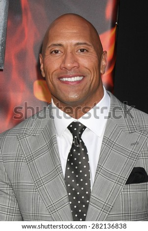 "LOS ANGELES - MAY 26:  Dwayne Johnson at the ""San Andreas"" World Premiere at the TCL Chinese Theater IMAX on May 26, 2015 in Los Angeles, CA - stock photo"