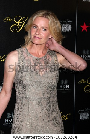 LOS ANGELES - MAY 22:  Elisabeth Shue arrives at the 37th Annual Gracie Awards Gala at Beverly Hilton Hotel on May 22, 2012 in Beverly Hllls, CA - stock photo
