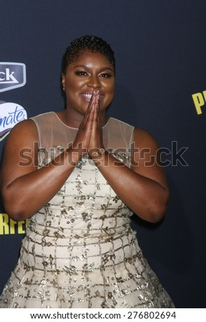"""LOS ANGELES - MAY 9:  Ester Dean at the """"Pitch Perfect 2"""" World Premiere at the Nokia Theater on May 9, 2015 in Los Angeles, CA - stock photo"""