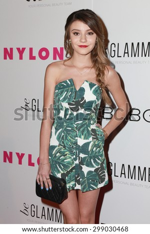 LOS ANGELES - MAY 7:  G. Hannelius at the NYLON Magazine Young Hollywood Issue Party  at the HYDE Sunset on May 7, 2015 in West Hollywood, CA - stock photo