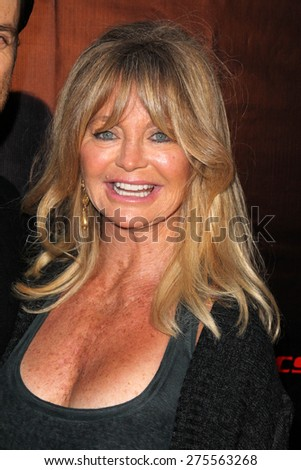 "LOS ANGELES - MAY 3:  Goldie Hawn at the ""Where Hope Grows"" Los Angeles Premiere at the ArcLight Hollywood Theaters on May 3, 2015 in Los Angeles, CA - stock photo"