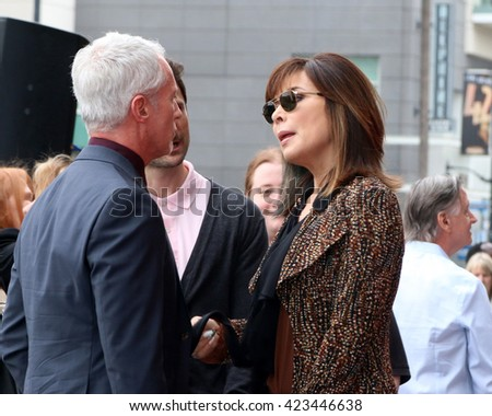 LOS ANGELES - MAY 19:  Greg Meng, Lauren Koslow at the Deidre Hall Hollywood Walk of Fame Ceremony at the Hollywood Blvd. on May 19, 2016 in Los Angeles, CA - stock photo