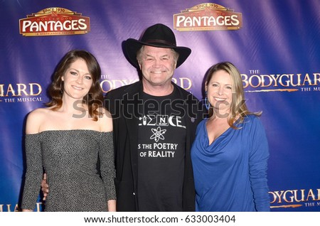 "LOS ANGELES - MAY 2:  Guest, Mickey Dolenz, Ami Dolenz at the ""The Bodyguard"" Play Opening at the Pantages Theater on May 2, 2017 in Los Angeles, CA"
