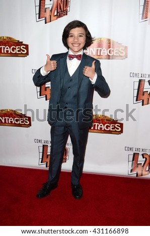 LOS ANGELES - MAY 31:  Hunter Payton at the 42nd Street Play Opening at the Pantages Theater on May 31, 2016 in Los Angeles, CA - stock photo