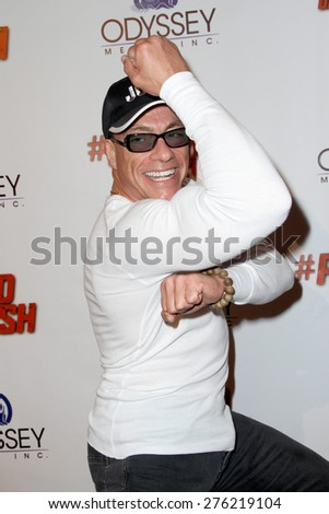 "LOS ANGELES - MAY 7: Jean-Claude Van Damme attends the premiere of ""Pound of Flesh"" at The Grove Pacific Theaters in Los Angeles on May 7, 2015.  - stock photo"