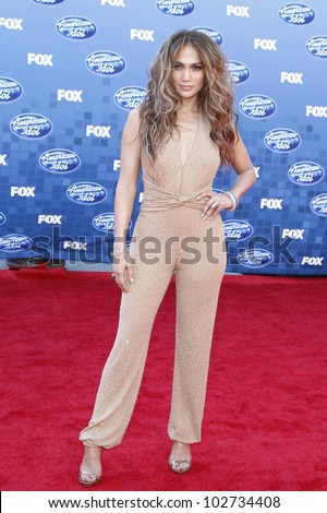 LOS ANGELES - MAY 6: Jennifer Lopez at the American Idol Finale at the Nokia Theater in Los Angeles, California on May 25, 2011 - stock photo