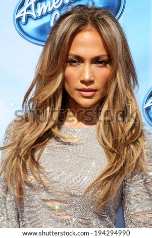 LOS ANGELES - MAY 21:  Jennifer Lopez at the American Idol Season 13 Finale at Nokia Theater at LA Live on May 21, 2014 in Los Angeles, CA - stock photo