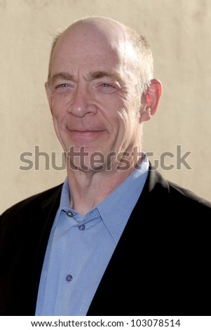 LOS ANGELES - MAY 20:  JK Simmons arrives at the ABC / Disney International Upfronts at Walt Disney Studios Lot on May 20, 2012 in Burbank, CA