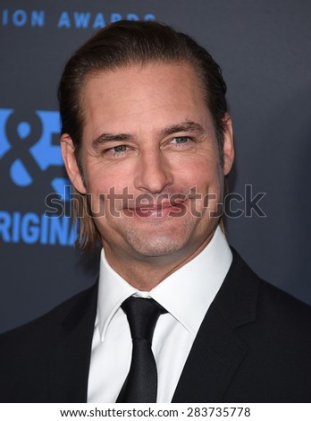 LOS ANGELES - MAY 31:  Josh Holloway arrives to the Critic's Choice Television Awards 2015  on May 31, 2015 in Hollywood, CA                 - stock photo