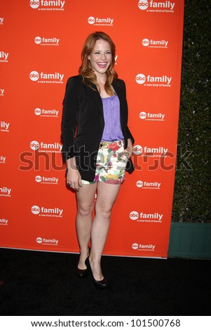 LOS ANGELES - MAY 1:  Katie Leclerc_ arrives at the ABC Family West Coast Upfronts at The Sayers Club on May 1, 2012 in Los Angeles, CA - stock photo