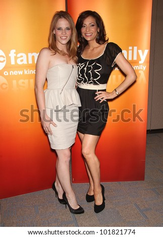 LOS ANGELES - MAY 15:  Katie LeClerc & Constance Marie arrives to the ABC Disney May Press Junket  on May 14, 2011 in Glendale, CA - stock photo