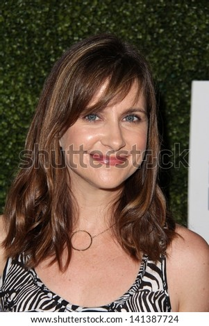 LOS ANGELES - MAY 31:  Kellie Martin arrives at the 10th Annual Inspiration Awards Luncheon at the Beverly Hilton Hotel on May 31, 2013 in Beverly Hills, CA - stock photo