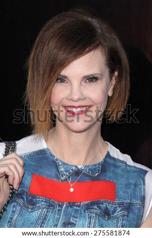 "LOS ANGELES - MAY 3:  Kiersten Warren at the ""Where Hope Grows"" Los Angeles Premiere at the ArcLight Hollywood Theaters on May 3, 2015 in Los Angeles, CA - stock photo"