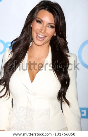 LOS ANGELES - MAY 4:  Kim Kardashian arrives at the 4th Annual Night of Generosity Gala Event at Hollywood Roosevelt Hotel on May 4, 2012 in Los Angeles, CA - stock photo