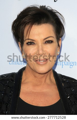 LOS ANGELES - MAY 12:  Kris Jenner at the Children's Justice Campaign Event at the Private Residence on May 12, 2015 in Beverly Hills, CA - stock photo