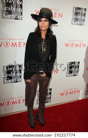 """LOS ANGELES - MAY 10:  Linda Perry at the L.A. Gay & Lesbian Center's """"An Evening With Women"""" at Beverly Hilton Hotel on May 10, 2014 in Beverly Hills, CA - stock photo"""