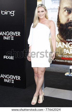 LOS ANGELES - MAY 19: Lindsey Vonn at the premiere of 'The Hangover Part II' held at the Grauman's Chinese Theater in Los Angeles, CA on May 19, 2011. - stock photo