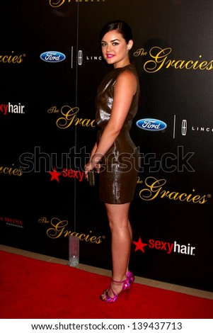 LOS ANGELES - MAY 21:  Lucy Hale arrives at the 38th Annual Gracie Awards Gala at the Beverly Hilton Hotel on May 21, 2013 in Beverly Hills, CA
