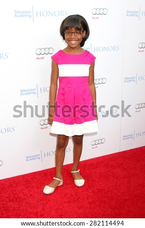 LOS ANGELES - MAY 27:  Marsai Martin at the 8th Annual Television Academy Honors - Arrivals at the Montage Hotel on May 27, 2015 in Beverly Hills, CA - stock photo