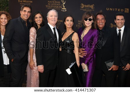 LOS ANGELES - MAY 1: Meredith Scott Lynn, Galen Gering, K Corday, Kristian Alfonso, Lauren Koslow, Thaao Penghlis at the Daytime Emmy Awards at the Bonaventure Hotel on May 1, 2016 in Los Angeles, CA
