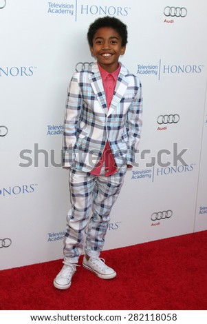 LOS ANGELES - MAY 27:  Miles Brown at the 8th Annual Television Academy Honors - Arrivals at the Montage Hotel on May 27, 2015 in Beverly Hills, CA - stock photo