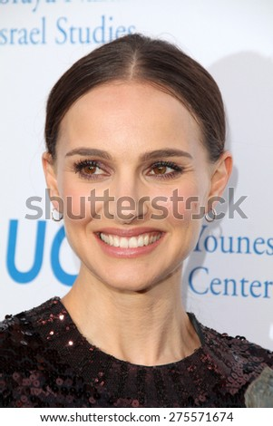 LOS ANGELES - MAY 5:  Natalie Portman at the Nazarian Center For Israel Studies Fifth Annual Gala at the Wallis Annenberg Center for the Performing Arts on May 5, 2015 in Beverly Hills, CA - stock photo