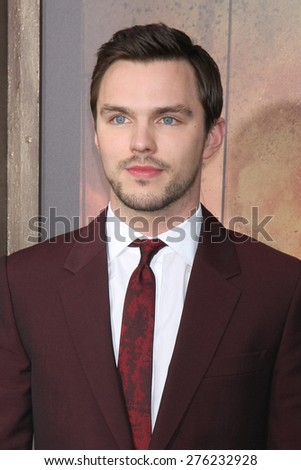 LOS ANGELES - MAY 7:  Nicholas Hoult at the Mad Max: Fury Road Los Angeles Premiere at the TCL Chinese Theater IMAX on May 7, 2015 in Los Angeles, CA - stock photo