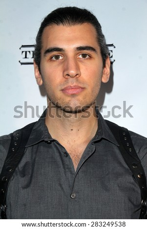 LOS ANGELES - MAY 31:  Nick Simmons at the Angeleno Magazine  June 2015 Issue Party with Cover Man Adrian Grenier at the The Argyle on May 31, 2015 in Los Angeles, CA